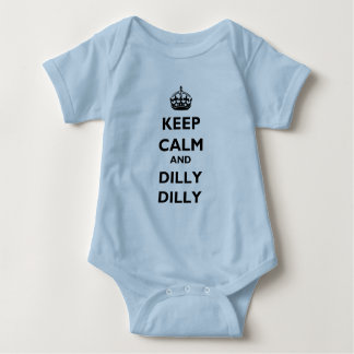 Keep Calm and Dilly Dilly Baby Jersey Lt Bodysuit ベビーボディスーツ