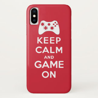 Keep calm and game on iPhone x ケース