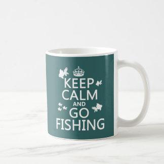 Keep Calm and Go Fishing コーヒーマグカップ