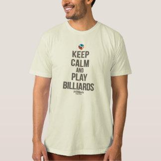 Keep calm and play billards tシャツ