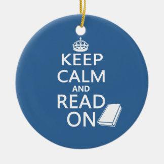 Keep Calm and Read On セラミックオーナメント