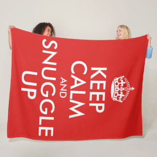 Keep Calm And Snuggle Up (large) フリースブランケット