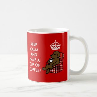 Keep Calm Chocolate Labrador Mug