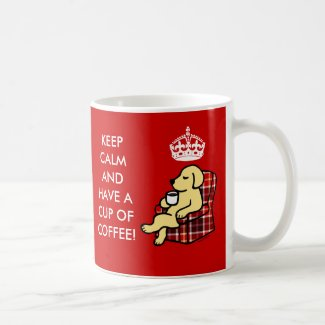Keep Calm Yellow Labrador Mugs