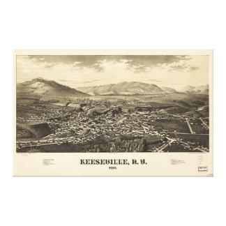 Keesevilleニューヨーク(1887年) キャンバスプリント