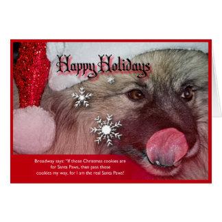 keeshondのクリスマスカード カード