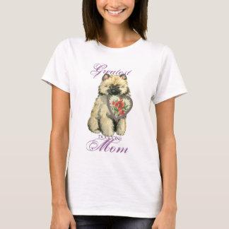 Keeshondのハートのお母さん Tシャツ