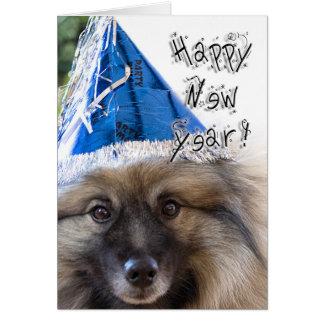Keeshondの年賀状 カード