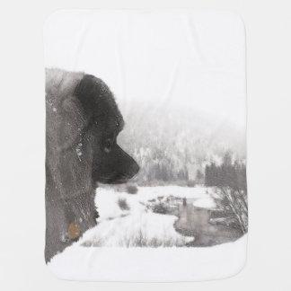 Keeshondの影の入り江の絵画元の犬の芸術 ベビー ブランケット