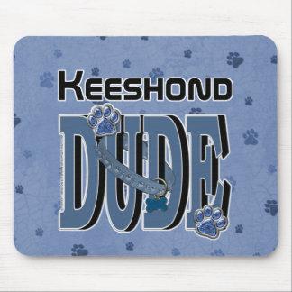 Keeshondの男 マウスパッド