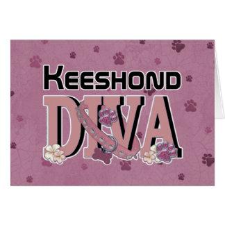Keeshondの花型女性歌手 カード