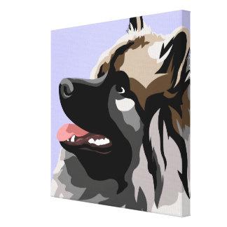 Keeshond犬の芸術 キャンバスプリント