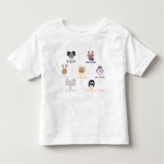 Keikiのアロハベビーのオオハシカッコウ友人imalsの幼児のTシャツ トドラーTシャツ