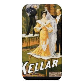 Kellarの~によって行く手品師のヴィンテージの魔法の行為 iPhone 4/4Sケース