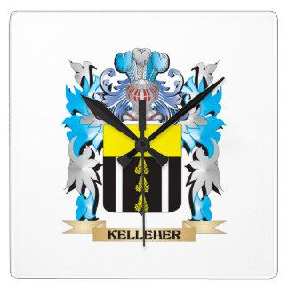 Kelleherの紋章付き外衣-家紋 スクエア壁時計