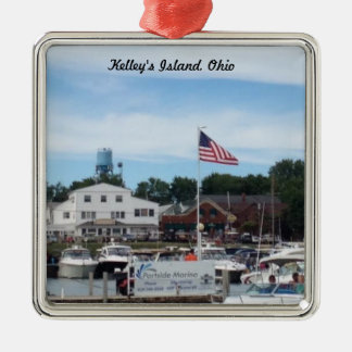 Kelleyの島のPortsideのマリーナのオハイオ州のオーナメント メタルオーナメント