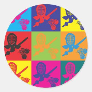 Kendoのポップアート ラウンドシール
