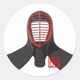 kendoの人のステッカー ラウンドシール