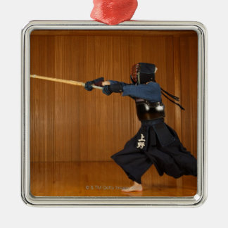 KendoのFencerの練習 メタルオーナメント