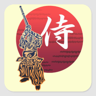 Kendo samurai スクエアシール