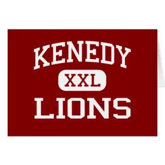 Kenedy -ライオン- Kenedyの高等学校- Kenedyテキサス州 カード