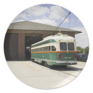 Kenoshaの市街電車車のプレート プレート