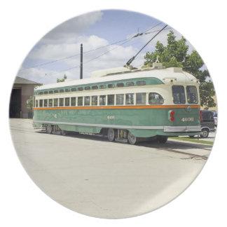 Kenosha WIの市街電車車のプレート プレート