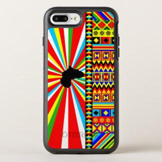 Kenteの布パターンアフリカのプリント オッターボックスシンメトリーiPhone 8 Plus/7 Plusケース