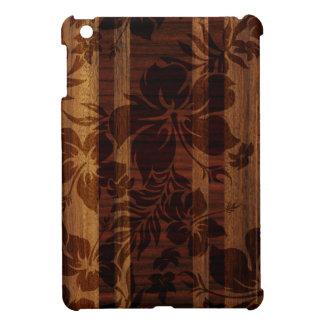 Keokeaのビーチの模造のな木製のサーフボードのiPad Miniケース iPad Miniカバー