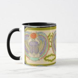 KephriのCartoucheを持つエジプトのオオタマオシコガネ マグカップ