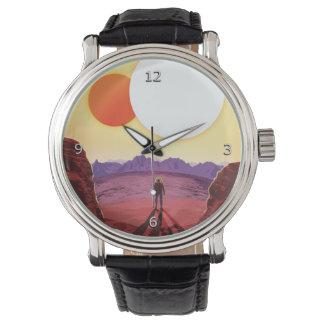 Kepler 16bの休暇広告宇宙旅行でリラックスして下さい 腕時計