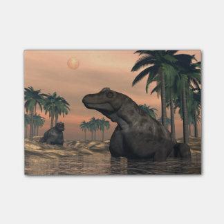 Keratocephalusの恐竜- 3Dは描写します ポストイット