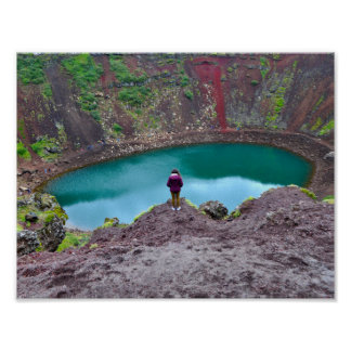 Keridの噴火口、アイスランド ポスター