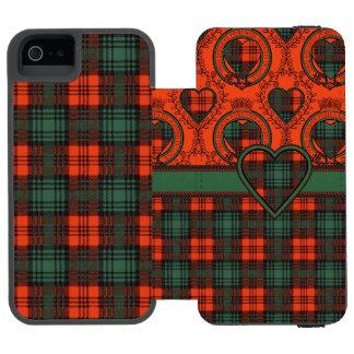 Kerrの一族の格子縞のスコットランド人のタータンチェック iPhone SE/5/5sウォレットケース