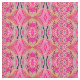 Kesaharのピンクのイカット ファブリック