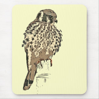 Kestralの鳥の野性生物動物の猛禽の沼地 マウスパッド