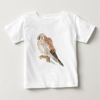 Kestrelのハイタカ、水彩画の鳥 ベビーTシャツ