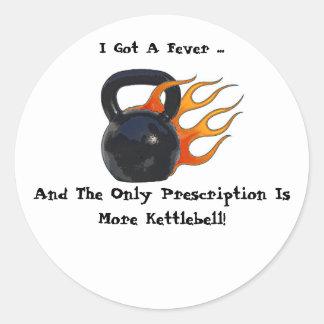 Kettlebellのより多くのステッカー ラウンドシール