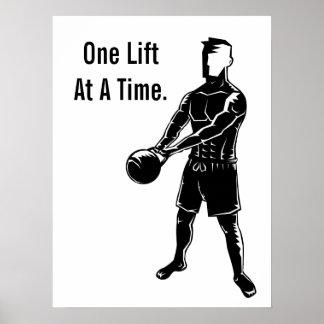 Kettlebellはやる気を起こさせるなトレーニングのフィットネスを重くします ポスター