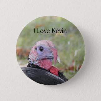 Kevin The Turkey - Old Wethersfield , CT 5.7cm 丸型バッジ
