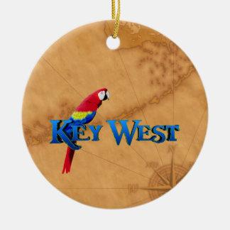 Key Westおよび地図 セラミックオーナメント