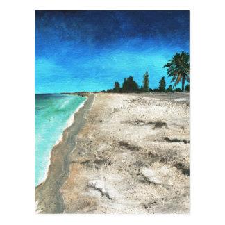 Key Westのアクリルのビーチの絵画 ポストカード