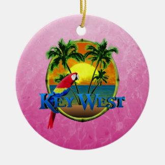 Key Westのピンクの日没 セラミックオーナメント