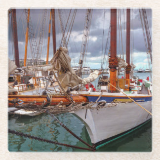 Key WestのヨットMorred ガラスコースター