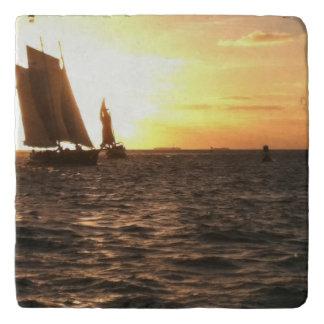 Key Westの日没の写真Trivet トリベット