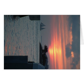Key Westの日没 カード