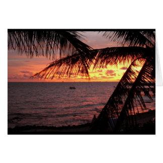 Key Westの日没(ブランク) カード