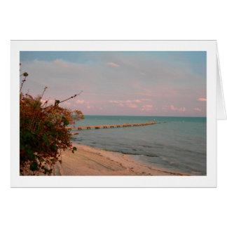 Key Westの海岸線(ブランク) カード
