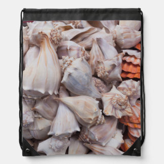 Key Westの貝殻 ナップサック