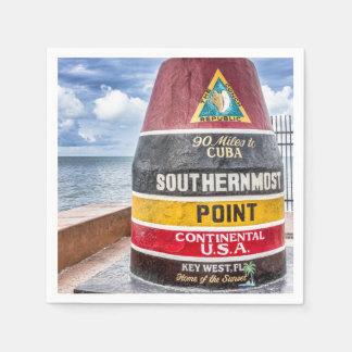 Key Westフロリダのカクテルのナプキン スタンダードカクテルナプキン